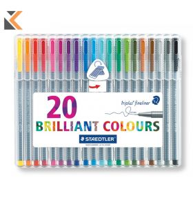 Staedtler Triplus Fineliner Assorted - [Pack of 20]