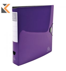 Iderama PP Lever Arch File, , 2Rings, 75mm Spine Purple - [32X30cm]