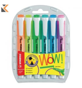 Stabilo Swing Cool Assorted Colour Highlighters - [Wallet of 6]