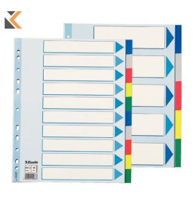Tab Dividers 1-20 Laminated Unpunched A4 - [Pk25]
