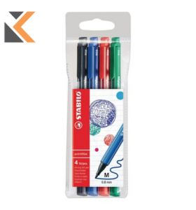 Stabilo 488 Premium Pointmax Fineliner 0.8 Assorted - [Wallet of 4]