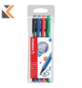 Stabilo-488 Pointmax Premium Fineliner 0.8 Assorted - [Wallet of 4]