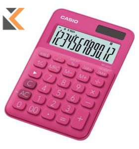 Desk Calculator - [12-Digit] Big-Display In Pink With Function Command Signs
