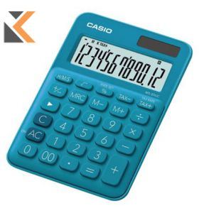 Desk Calculator - [12-Digit] Big-Display In Blue With Function Command Signs