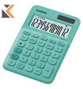 Desk Calculator - [12-Digit] Big-Display In Green With Function Command Signs