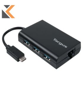 Targus USB-C Hub To 3 X USB-A Ethernet - [Black]