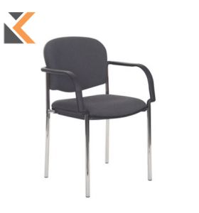 Coda Multi-Purpose Stacking Chair With Black Arms