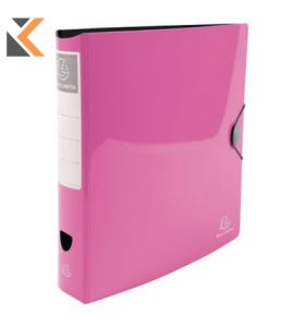 Iderama PP Lever Arch File,  2Rings, 75mm Spine Pink - [32X30cm]