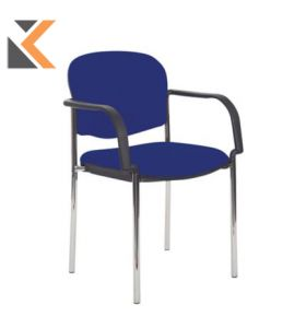 Coda Multi Purpose Stacking Chair With Blue Arms