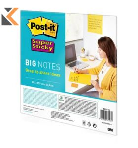 Post-It Super Sticky Big Notes Bn11-Eu 27.9cm X 27.9cm - [Pack of 30 Sheets]
