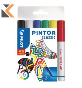 Pilot Pintor Markers Assorted Fine - [Pack of 6]
