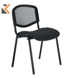 Welcome Mesh Black Visitor Chair