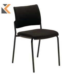 Savannah Reception Chair - [4-Legged] Black Frame