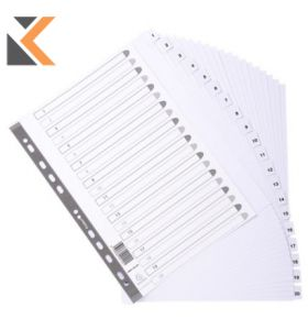 Exacompta Mylar Printed Indices, A4 White - [20 Part A-Z]