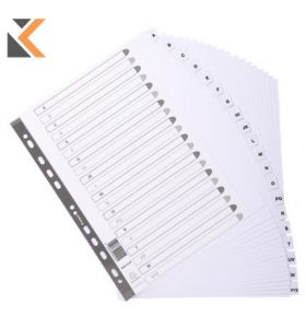 Exacompta Mylar Printed Indices, A4 Maxi White - [20 Part A-Z]