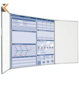 Custom Printed Landscape Magnetic Whiteboard 1 Plain Wing - [900mm X 600mm]