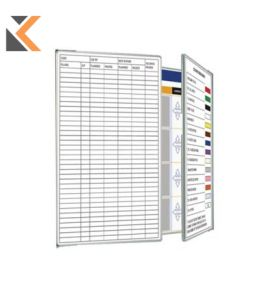 Custom Printed Landscape Magnetic Whiteboard 2 Double Sided Wings - [1200mm X 900mm]