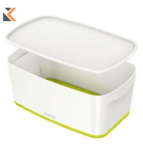 Leitz Mybox Small With Lid, Storage Green Box - [5 Litre]