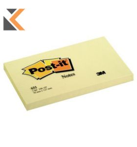 Post-It Notes Canary Yellow 127X76mm - [Pack of 12 Pads]