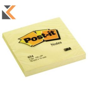 Post-It Notes Canary Yellow - Pack of 12 Pads - [76X76mm]