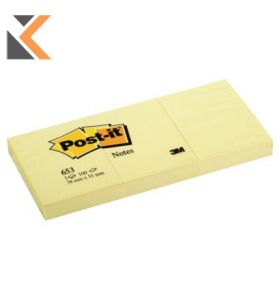 Post-It Notes Canary Yellow 38X51mm - [Pack of 12]