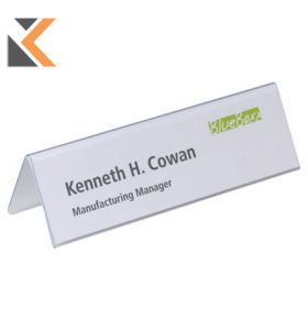 Durable Table Place Name Holder 210X61mm - [Pack of 25]