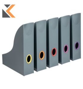 Durable Varicolor Magazine Rack Anthracite Grey - [Pack of 5]