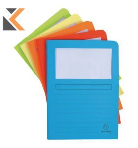 Super-50550E Expanding File With Window Assorted - [Pack of 50]