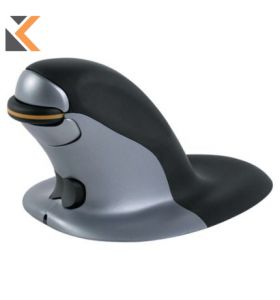 Penguin Ambidextrous Vertical Wired Small Mouse