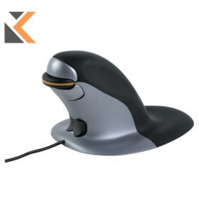 Penguin Ambidextrous Vertical Wired Large Mouse