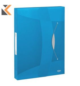 Rexel Choices Polypropylene Translucent A4 Spine Box Blue File - [40mm]