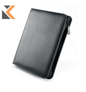 Falcon Leather Zip Conference A4 Folder
