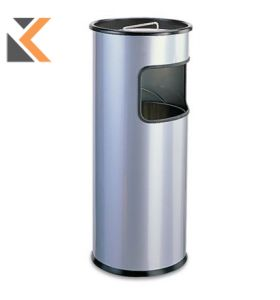 Durable Metal Waste Bin With Ashtray - [17/2 Litre] Capacity