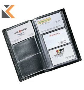 Black Soft Cover PVC Business Card File Capacity - [120 Card]