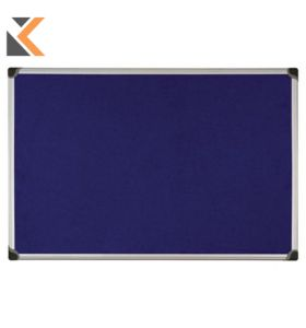 Aluminium Framed Fabric Blue Notice Board - [600mm X 900mm]