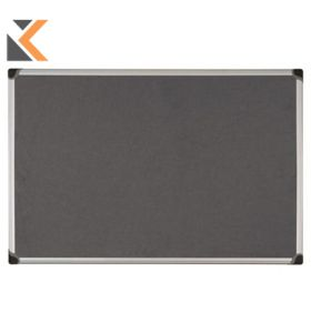 Aluminium Framed Fabric Grey Notice Board - [900mm X 1200mm]
