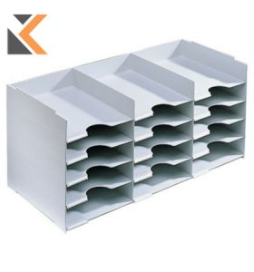 Horizontal Organiser With 15 Compartments [313 X 670 X 304mm] - Light Grey