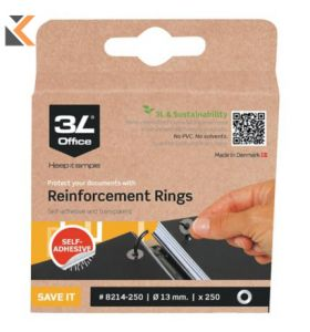 3L Clear Reinforcement Rings 6mm Diameter - [Box of 500]