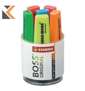 Stabilo Boss Assorted Colour Highlighters - [Desk Set of 6]