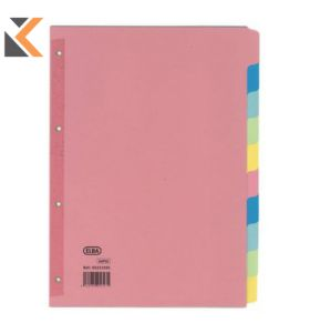Elba A4 Coloured Card Dividers With Reinforced Spine - [10 Part]