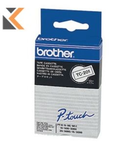 Brother P-Touch Tc Labelling Tape Black On White - [7.5M X 12mm]