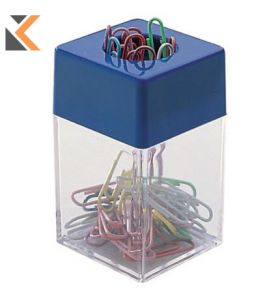 Paper Clip Dispenser With Magnetic Rim - [70 X 43 X 43mm]