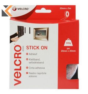 Velcro Brand Hook And Loop Tape - [5M Roll]