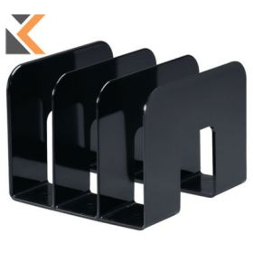 Durable Catalogue Stand Black With - [3 Comparments]