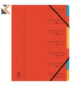 Europa Multipart File, 7 Part - Assorted Colours - [24.5X32cm]