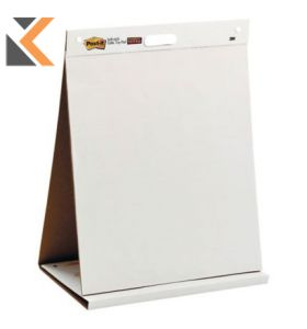 3M Post-It 563 Plain White Table Top Easel 20 Sheets - [584mm X 508mm]