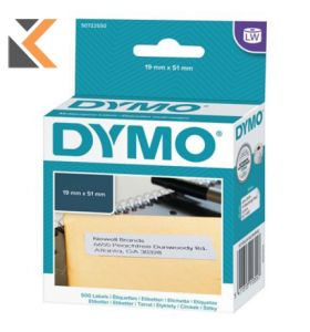 Dymo LW Multi-Purpose/Return Address Labels, Roll of 500 - [19mm X 51mm]