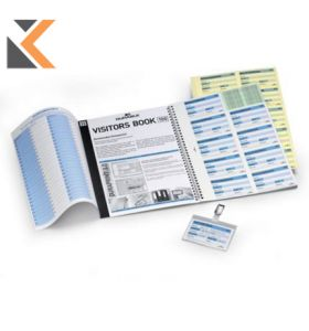 Durable Visitors Book Refills Perforated Badge Inserts - [Pack of 100]