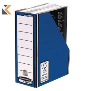 Fellowes Bankers Premium Box Magazine File (Blue) - [Pack of 10]