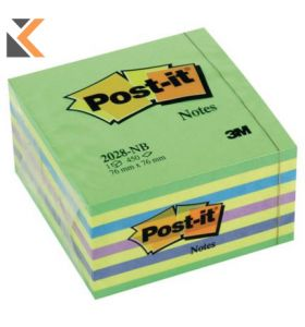 Post-It Note Cube 450 Sheets Neons - [76x76mm]